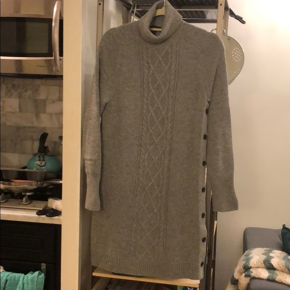 cbbc6445f2e J. Crew Dresses   Skirts - J.Crew gray turtleneck sweater dress